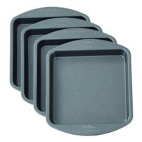 Wilton® Easy Layers! 4-Piece Nonstick 4-Inch Square Cake Pan Set