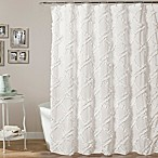 Lush Decor 72-Inch x 72-Inch Ruffle Diamond Shower Curtain in White