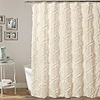 Lush Decor 72-Inch x 72-Inch Ruffle Diamond Shower Curtain in Ivory