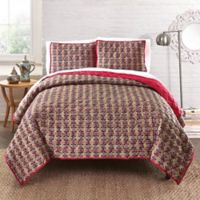 Amrita Sen Cotton Voile Reversible Queen Quilt in Gold