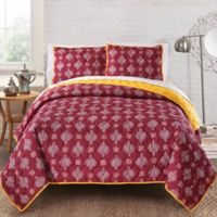 Amrita Sen Cotton Voile Reversible Queen Quilt in Red