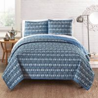 Amrita Sen Cotton Voile Reversible Queen Quilt in Blue