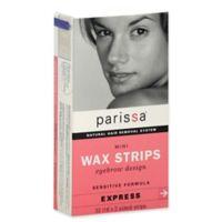 Parissa® 32-Count Natural Hair Removal Mini Wax Strips Eyebrow Design