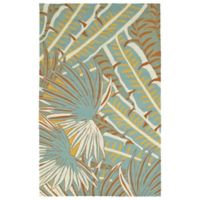 Kaleen Yunque Tropica Indoor/Outdoor 8-Foot x 10-Foot Area Rug in Ivory