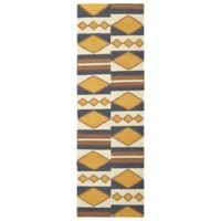 Kaleen Nomad Diamond Play 2-Foot 6-Inch x 8-Foot Runner in Gold