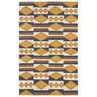 Kaleen Nomad Diamond Play 9-Foot x 12-Foot Area Rug in Gold