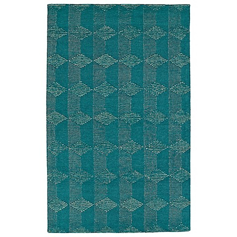 image of Kaleen Evanesce Corfu Rug in Teal