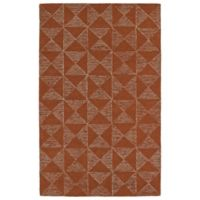 Kaleen Evanesce Graphics 8-Foot x 10-Foot Area Rug in Paprika