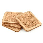 Thirstystone® Gold-Edged Cork Coasters (Set of 4)