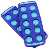 Squish® Collapsible Ice Cube Trays in Blue (Set of 2)