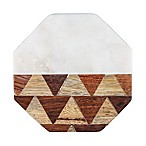 Thirstystone® Octagonal Marble/Parquet Wood Coasters (Set of 4)