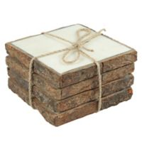 Thirstystone® Bark-Edged Marble Coasters (Set of 4)