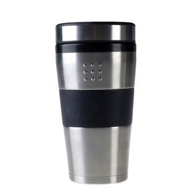 orion travel mug in silver - Coffee Travel Mugs