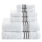Madison Park Signature Elloy 6-Piece Embroidered Cotton Towel Set in Black