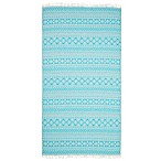 Linum Home Textiles Sea Breeze Pestemal Beach Towel in Turquoise