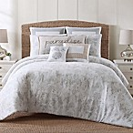 Tropical Plantation Toile King Comforter Set in Grey/White
