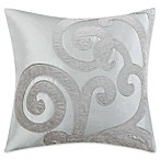 Charisma Home Legacy Large Square Throw Pillow in Blue/Cream