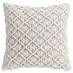 Bridge Street Somerset Corded Square Throw Pillow in Cream