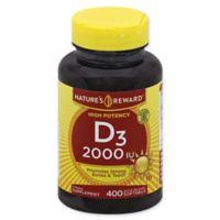 Nature's Reward™ 400-Count 2000 IU High Potency Vitamin D3 Quick Release Softgels