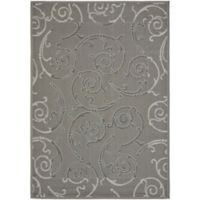 Safavieh Courtyard 8-Foot x 11-Foot Meadow Indoor/Outdoor Rug in Anthracite/Light Grey