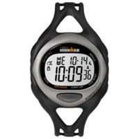 Timex® Ironman® Ladies' 38mm Sleek 50 Full-Size Watch in Silver Resin w/Black Silicone Strap
