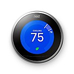 Nest Learning Third Generation Thermostat in Silver