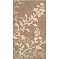 Safavieh Courtyard 2-Foot 7-Inch x 5-Foot Teresa Indoor/Outdoor Rug in Brown/Beige