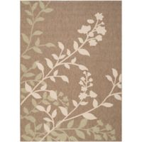 Safavieh Courtyard 4-Foot x 5-Foot 7-Inch Teresa Indoor/Outdoor Rug in Brown/Beige