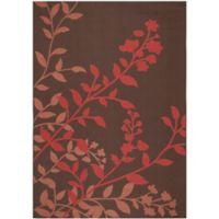 Safavieh Courtyard 6-Foot 7-Inch x 9-Foot 6-Inch Teresa Indoor/Outdoor Rug in Chocolate/Red