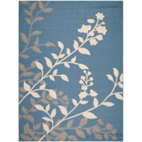 Safavieh Courtyard 8-Foot x 11-Foot Teresa Indoor/Outdoor Rug in Blue/Beige