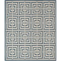 Safavieh Courtyard 8-Foot x 11-Foot Samara Indoor/Outdoor Rug in Black/Bone