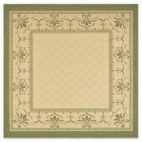Safavieh Courtyard 6-Foot 7-Inch x 6-Foot 7-Inch Sofia Indoor/Outdoor Rug in Natural/Olive