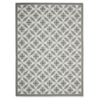 Safavieh Courtyard 8-Foot x 11-Foot Paola Indoor/Outdoor Rug in Light Grey/Anthracite