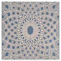 Safavieh Courtyard Lacey Indoor/Outdoor Rug in Blue/Beige