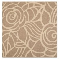 Safavieh Courtyard 6-Foot 7-Inch x 6-Foot 7-Inch Sawyer Indoor/Outdoor Rug in Coffee/Sand