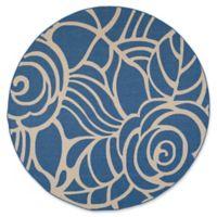 Safavieh Courtyard 7-Foot 10-Inch x 7-Foot 10-Inch Sawyer Indoor/Outdoor Rug in Blue/Beige