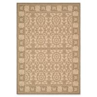 Safavieh Courtyard 2-Foot 7-Inch x 5-Foot Lena Indoor/Outdoor Rug in Coffee/Sand