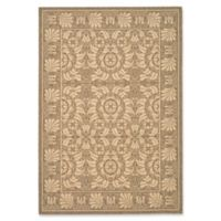 Safavieh Courtyard 6-Foot 7-Inch x 9-Foot 6-Inch Lena Indoor/Outdoor Rug in Coffee/Sand