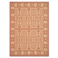Safavieh Courtyard 8-Foot x 11-Foot Lena Indoor/Outdoor Rug in Rust/Sand