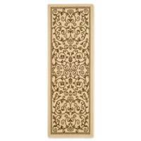 Safavieh Courtyard 2-Foot 3-Inch x 12-Foot Lydia Indoor/Outdoor Rug in Natural/Brown