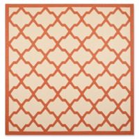 Safavieh Evie Indoor/Outdoor 7-Foot 10-Inch Square Area Rug in Beige/Terracotta