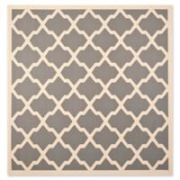 Safavieh Evie Indoor/Outdoor 7-Foot 10-Inch Square Area Rug in Anthracite/Beige