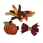 So'dorable 3-Piece Fall Pumpkin Headband and Clip Set