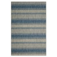 Safavieh Courtyard 9-Foot x 12-Foot Carlee Indoor/Outdoor Rug in Grey/Navy