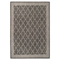 Safavieh Courtyard 4-Foot x 5-Foot 7-Inch Caylee Indoor/Outdoor Rug in Black/Beige