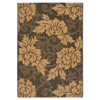 Safavieh Courtyard 2-Foot 7-Inch x 5-Foot Kynlee Indoor/Outdoor Rug in Black/Natural