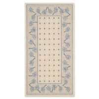 Safavieh Courtyard 2-Foot 7-Inch x 5-Foot June Indoor/Outdoor Rug in Ivory/Blue