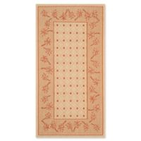 Safavieh Courtyard 2-Foot 7-Inch x 5-Foot June Indoor/Outdoor Rug in Ivory/Rust