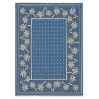 Safavieh Courtyard 5-Foot 3-Inch x 7-Foot 7-Inch June Indoor/Outdoor Rug in Blue/Ivory