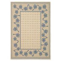 Safavieh Courtyard 6-Foot 7-Inch x 9-Foot 6-Inch June Indoor/Outdoor Rug in Ivory/Blue